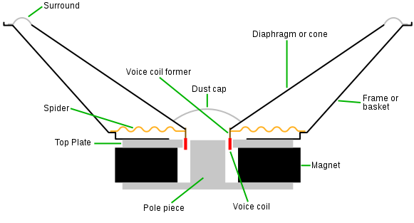 subwoofer cross-section