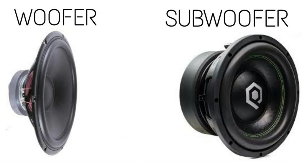 woofer vs subwoofer